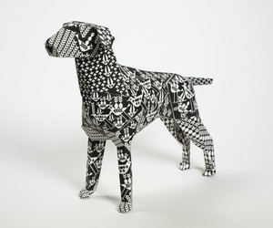 Gerald the easy-to-assemble Paper Dog
