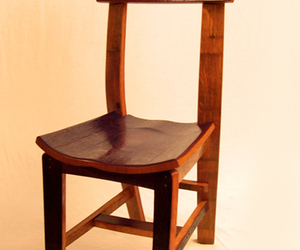 The Green Chair, made from recycled oak wine barrel staves