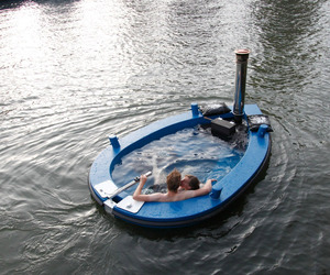 The HotTug, A Motorized Wood-Fired Hot Tub