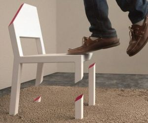 The Illusionary Cut Chair by Peter Bristol