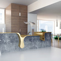Kitchen Dripping with Gold by WamHouse