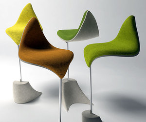 The Leaf Bar Stool by Velichko Velikov
