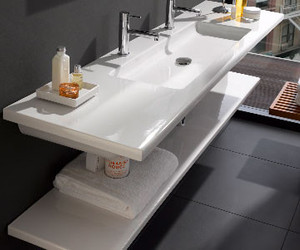 The Living Square Ceramic Washbasin by Laufen