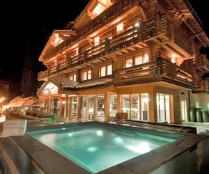 The Lodge in the Swiss Alps by Sir Richard Branson
