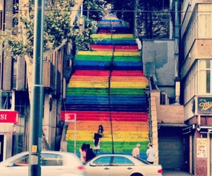 The Painted Steps of Protest from Istanbul Turkey