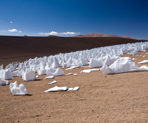 The Penitentes, Stunning Snow Formation