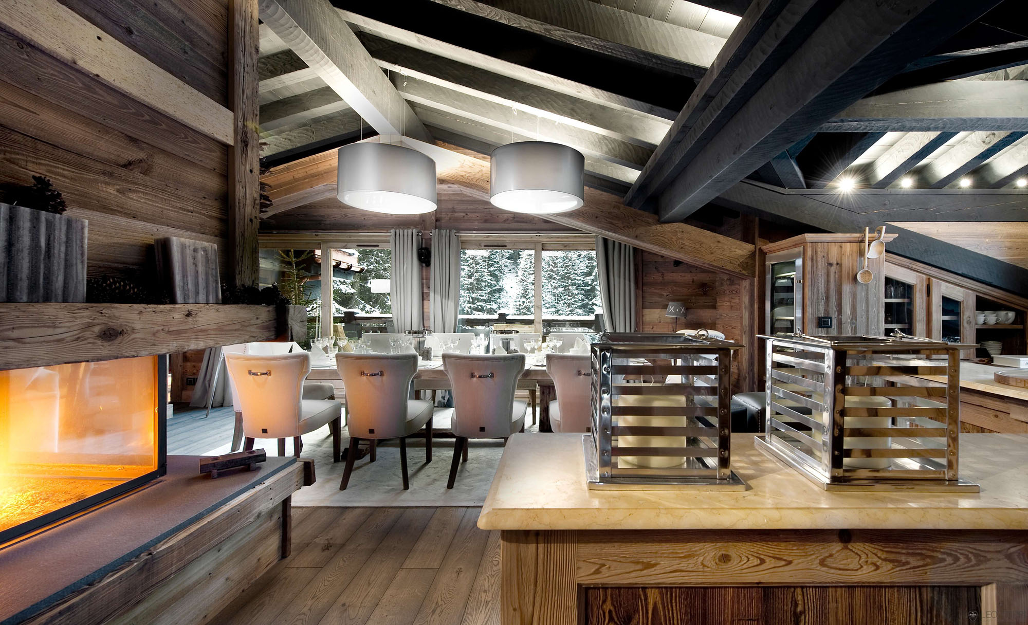 The petit chateau a luxury ski chalet in courchevel - Chalet modern design ...