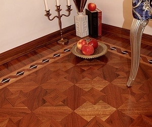 The Ribbon Hardwood Floor Border Inlay
