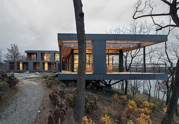The river house by bwarchitects Modern house architect new york