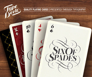 The Type Deck -  Typographic Playing Cards