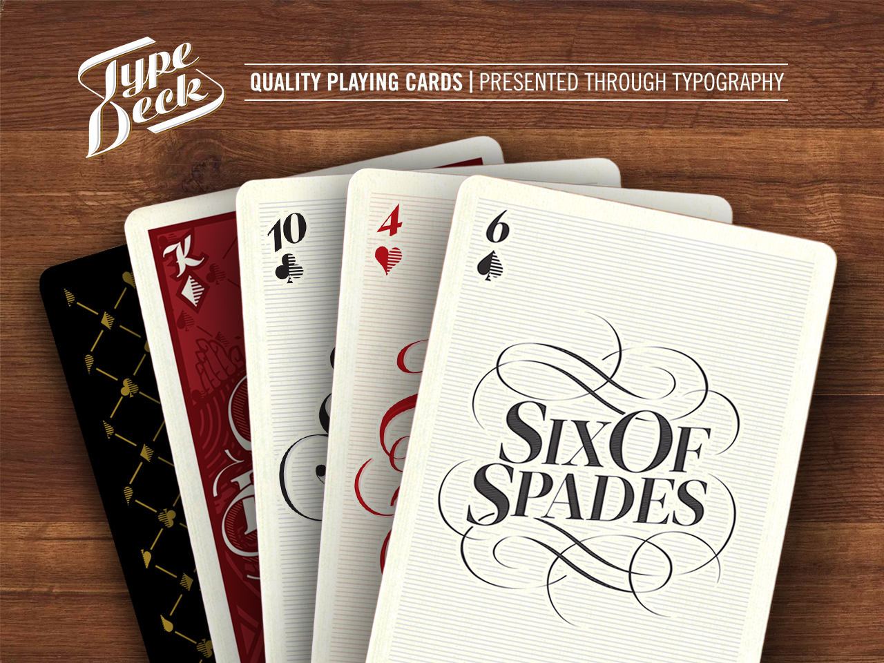The Type Deck Typographic Playing Cards