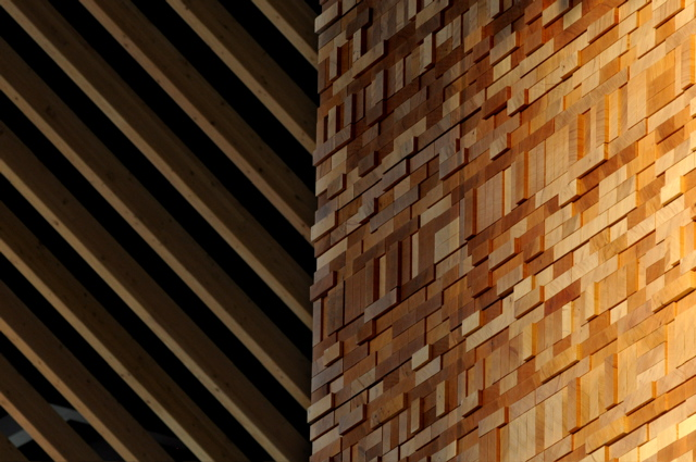 Wall Of Wood textured wood dividers and wall panels | soelberg industries