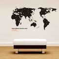 The World Map Wall Decals