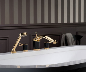 THG Bagatelle Washbasin Faucet in Black Obsidian