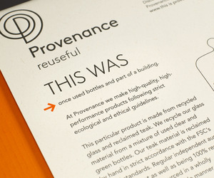 'This Was' and 'This is Now' Packaging with Provenance
