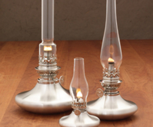 Thomas Danforth Pewter Oil Lamps