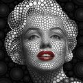 Thousands of Circles Make Celebrity Portraits