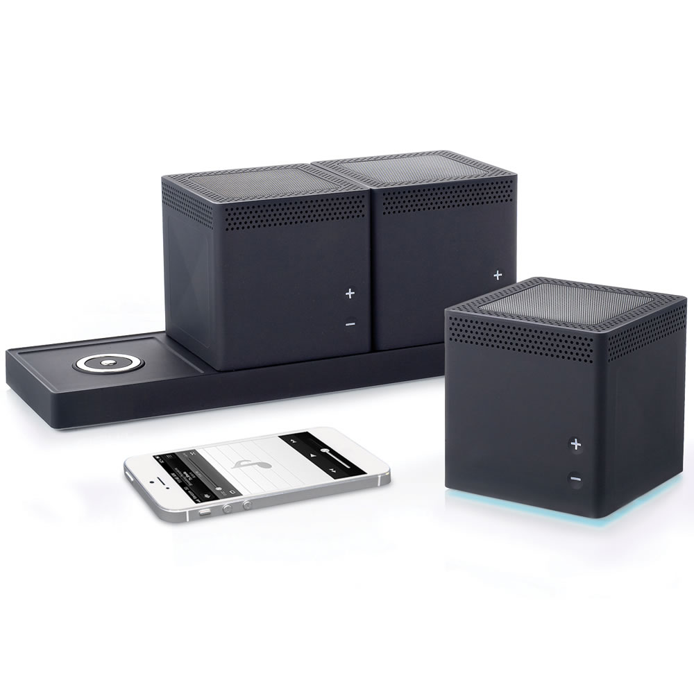 three room wireless speaker system. Black Bedroom Furniture Sets. Home Design Ideas