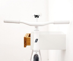 Tian: White and Oak Bicycle Rack