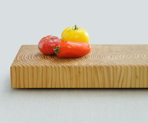 Tiger Stripe Buffet Board by Larch Wood