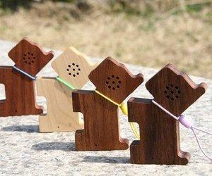 Tiny Wood Pet Speakers from MOTZ.