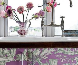 Toile Kitchen Cabinet