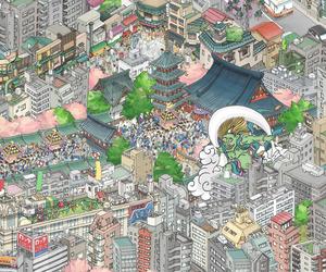 Tokyo Skytree Mural by teamLab