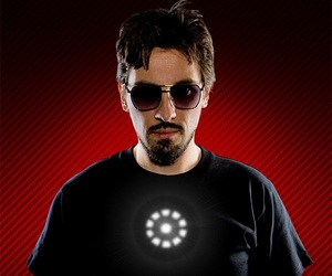 Tony Stark Light up LED Iron Man Shirt