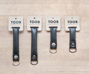 TOOB recycled innertube keychains