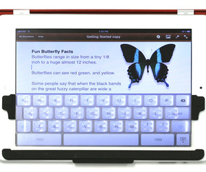 TouchFire -a screen-top keyboard for the iPad