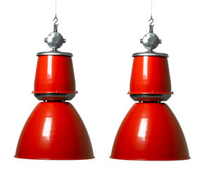 Trainspotters.co.uk | Giant Czech downlighters -RED-