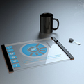 Transparent Tablet  Concept by Thomas Laenner.