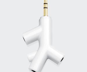 Tree Branch Inspired Headphone Splitter