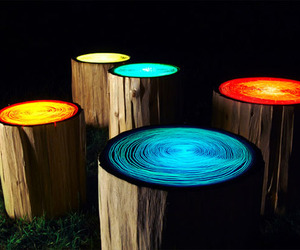 Tree Stump Lights | Straight Line Designs