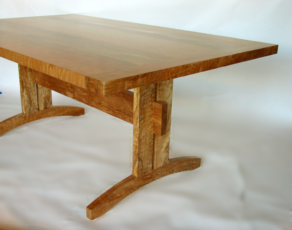 Trestle dining table beautiful and sustainable Trestle dining table