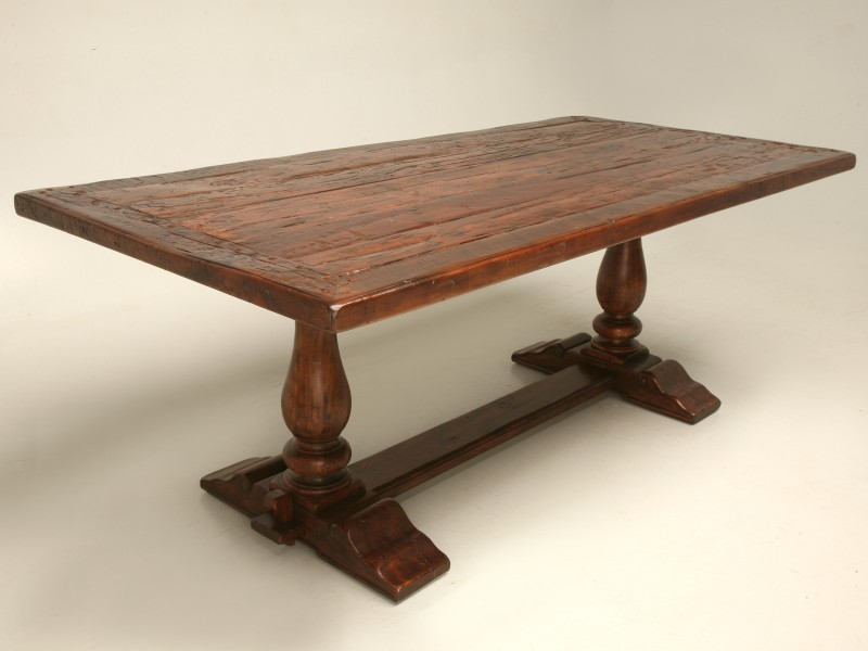 Rustic dining table top best home decoration world class Trestle dining table