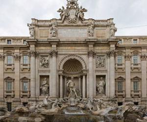 Trevi Fountain, Tourist Destination In Rome