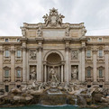 Trevi Fountain, Tourist Destination In Rome