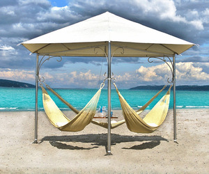 Triple Hammocks by Gilbert Tourville