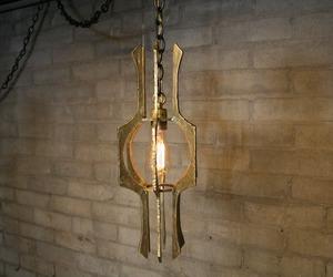 Triton Pendant in Cast Brass