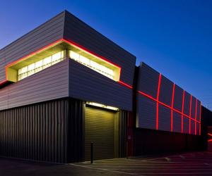 Tron-esque Chaparral Electric Warehouse