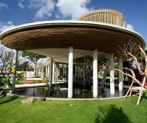 Tropical bamboo pavilion house