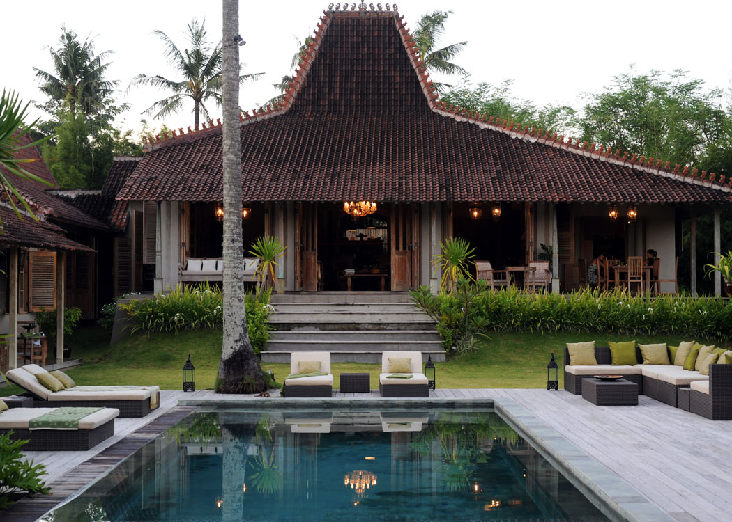 Tropical javanese joglo villa in bali Bali house designs floor plans