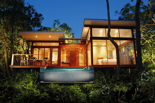 Tropical rainforest retreat on bedarra island for Best house resort design