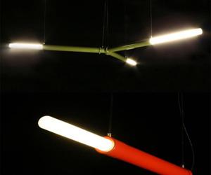 Tube Lamp At Atmospheric Lightning
