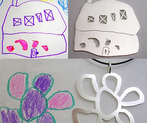 Turn Your Child's Art Into Jewelry & Keychains