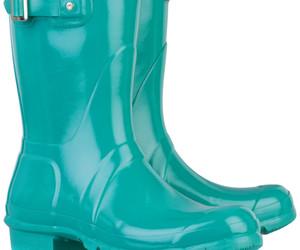 Turquoise short Wellington boots