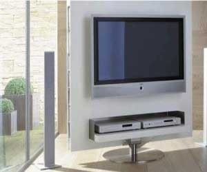 TV wall unit and compact office space