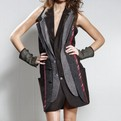 Tweed Multi Lapel Dress