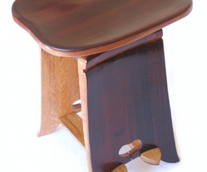 Twister, Swivel Stool | Recycled Wine Barrel Staves